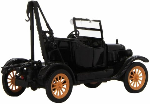 1923 Ford Model T Tow Truck, Black - New Ray SS-55083A - 1/32 scale Diecast Model Toy Car