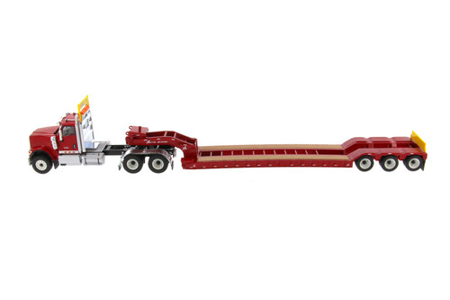 International HX520 SFFA Tandem Tractor with XL 120 Low-Profile HDG Trailer, Red - Diecast Masters 71016 - 1/50 scale Diecast Model Toy Car