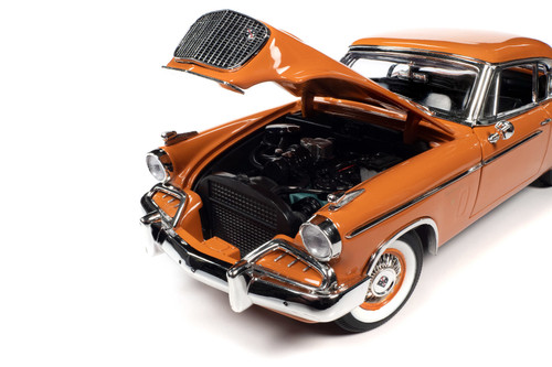 1957 Studebaker Golden Hawk, Coppertone Orange and White - Auto World AW270 - 1/18 scale Diecast Model Toy Car