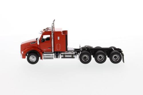 Kenworth T880 SBFA Sleeper Tridem Tractor (Cab Only), Speed Orange - Diecast Masters 71057 - 1/50 scale Diecast Model Toy Car