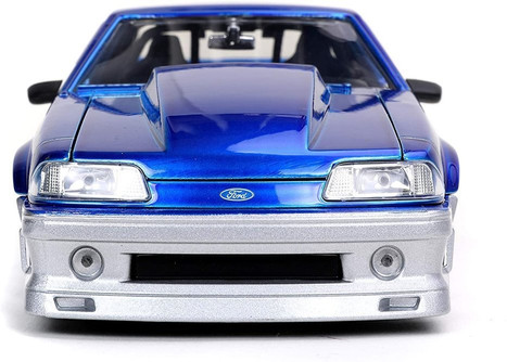 1989 Ford Mustang GT, Blue - Jada Toys 32670/4 - 1/24 scale Diecast Model Toy Car