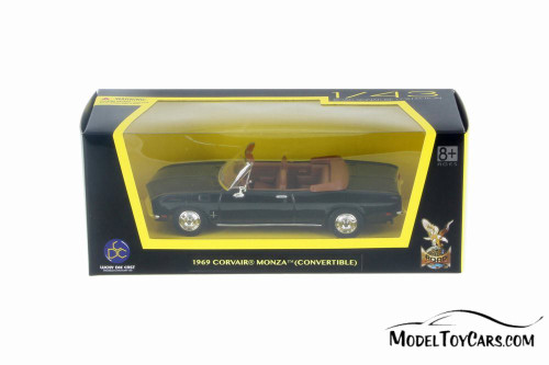 1969 Chevy Corvair Monza Convertible, Black - Lucky Road Signature 94241BK - 1/43 Scale Diecast Model Toy Car