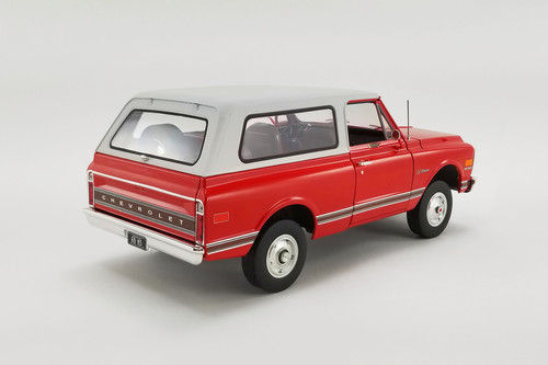 1969 Chevy K5 Blazer, Red and White - Acme A1807701 - 1/18 scale Diecast Model Toy Car