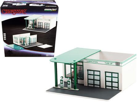 Vintage Gas Station Mobico, Christine - Christinelight 57072 - 1/64 scale Diorama Accessory