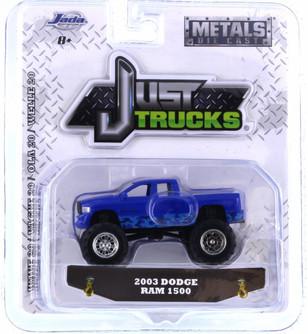 2003 Dodge Ram 1500, Blue - Jada 14020-W20 - 1/64 scale Diecast Model Toy Car