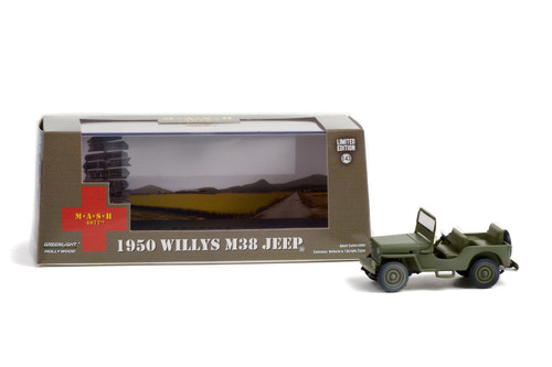 1950 Willys M38 Jeep, M*A*S*H - Greenlight 86594 - 1/43 scale Diecast Model Toy Car