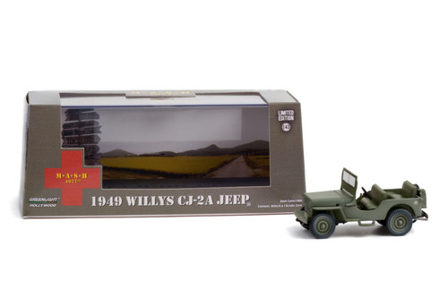 1949 Willys CJ-2A Jeep, M*A*S*H - Greenlight 86592 - 1/43 scale Diecast Model Toy Car