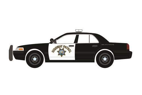 California Highway Patrol (CHP) 2008 Ford Crown Victoria, Black with White - Greenlight 85523 - 1/24 scale Diecast Model Toy Car