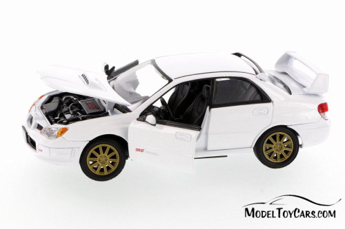 Subaru Impreza WRX Hard Top, White - Showcasts 73330WT - 1/24 scale Diecast Model Toy Car