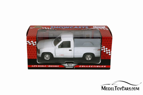 1992 Chevy 454 SS Pickup Truck, White - Showcasts 73203AC/W - 1/24 scale Diecast Model Toy Car