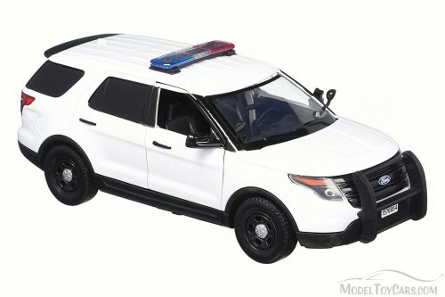 2015 Ford Unmarked Police Interceptor Utility, White - Motor Max 76959 - 1/24 Scale Diecast Model Toy Car