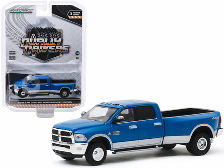2018 Dodge Ram Harvest Edition Dually, New Holland Blue - Greenlight 46030D/48 - 1/64 scale Diecast Model Toy Car