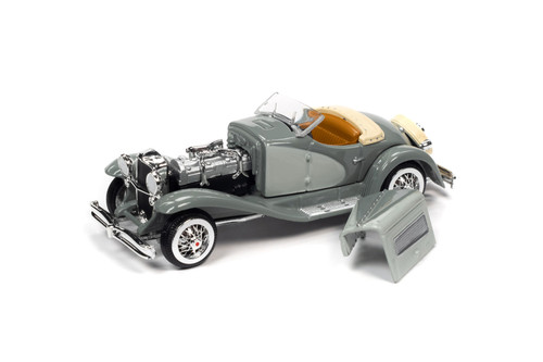 1935 Duesenberg SSJ Speedster, Light Gray and Dark Gray - RC2 RCSP014/24 - 1/64 scale Diecast Model Toy Car