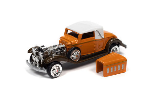 1931 Cadillac V16 Cabriolet, Burnt Orange and Brown - RC2 RCSP015/24 - 1/64 scale Diecast Model Toy Car