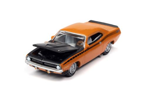 1970 Plymouth AAR Barracuda, Vitamin C Orange and Black - Johnny Lightning JLSP108/24A - 1/64 scale Diecast Model Toy Car