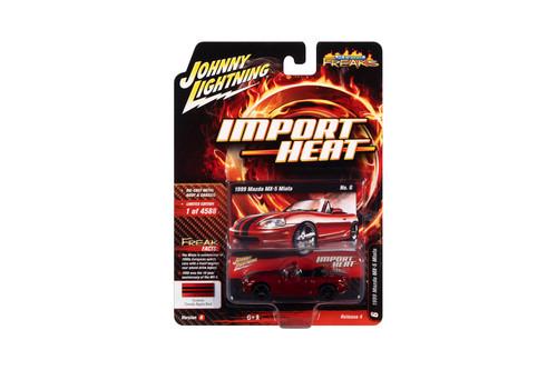 1999 Mazda Miata, Candy Apple Red - Johnny Lightning JLSF018/48B - 1/64 scale Diecast Model Toy Car