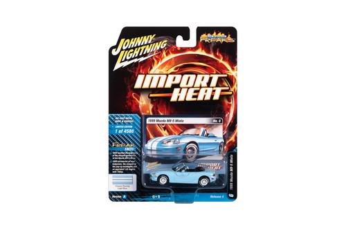 1999 Mazda Miata, Light Blue - Johnny Lightning JLSF018/48A - 1/64 scale Diecast Model Toy Car