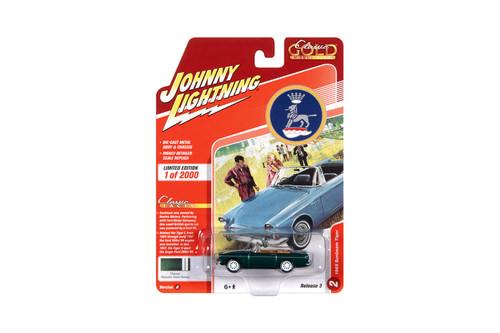 1965 Sunbeam Tiger, Dark Green - Johnny Lightning JLCG023/48A - 1/64 scale Diecast Model Toy Car