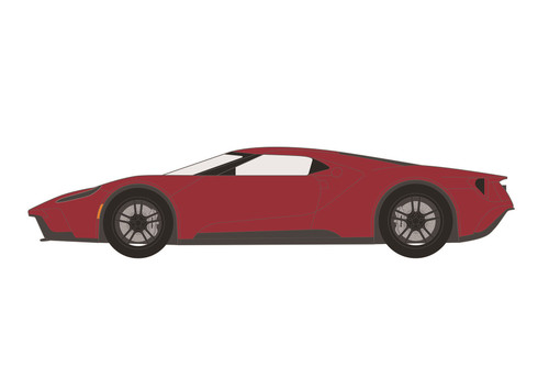 2017 Ford GT Hardtop (Lot #1392), Liquid Red - Greenlight 37220E/48 - 1/64 scale Diecast Model Toy Car