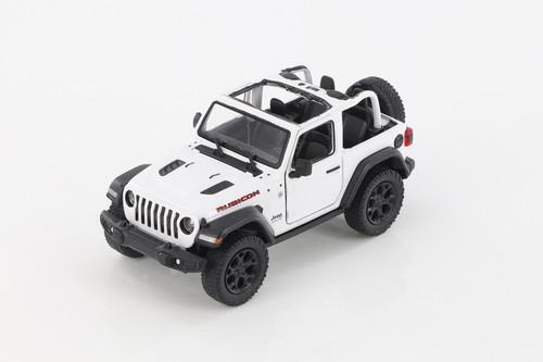 2018 Jeep Wrangler Rubicon Open Top, White - Kinsmart 5412DA/WT - 1/34 scale Diecast Model Toy Car
