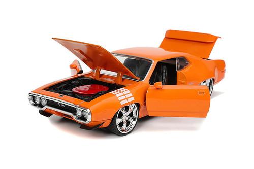1972 Plymouth GTX, Orange - Jada Toys 32697/4 - 1/24 scale Diecast Model Toy Car
