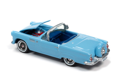 1956 Ford Thunderbird, Diamond Blue - Johnny Lightning JLCG023/48A - 1/64 scale Diecast Model Toy Car