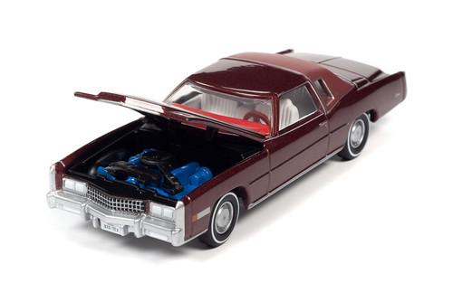 1975 Cadillac Eldorado Hardtop, Cerise Firemist Red - Auto World AWSP058/24B - 1/64 scale Diecast Model Toy Car