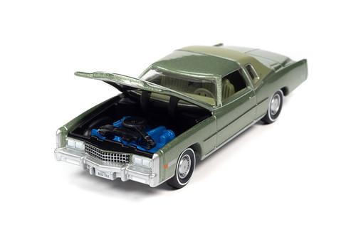 1975 Cadillac Eldorado Hardtop, Lido Green - Auto World AWSP058/24A - 1/64 scale Diecast Model Toy Car