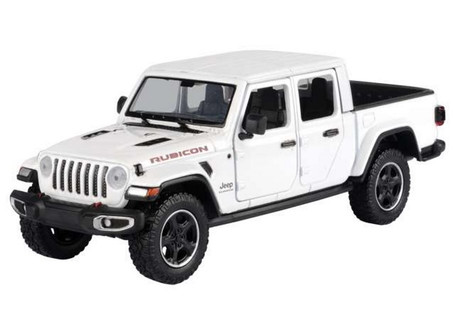 2021 Jeep Gladiator Rubicon (Hard Top), White - Motor Max 79368/2D - 1/27 scale Diecast Model Toy Car