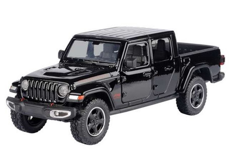 2021 Jeep Gladiator Rubicon (Hard Top), Black - Motor Max 79368/2D - 1/27 scale Diecast Model Toy Car