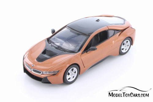 2018 BMW i8 Coupe, Copper - Showcasts 79359/16D - 1/24 scale Diecast Model Toy Car