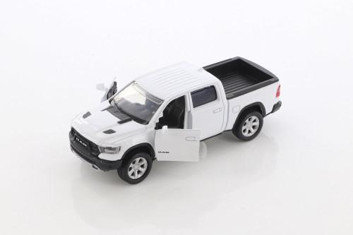2019 Dodge Ram 1500 Crew Cab Rebel, White - Motor Max 73679/2D - Diecast Model Toy Car