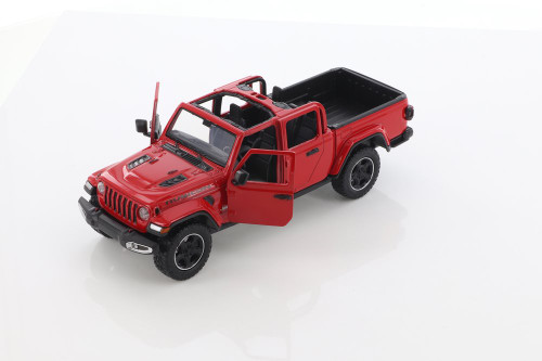 2021 Jeep Gladiator Rubicon (Open Top), Red - Motor Max 79368/2D - 1/27 scale Diecast Model Toy Car
