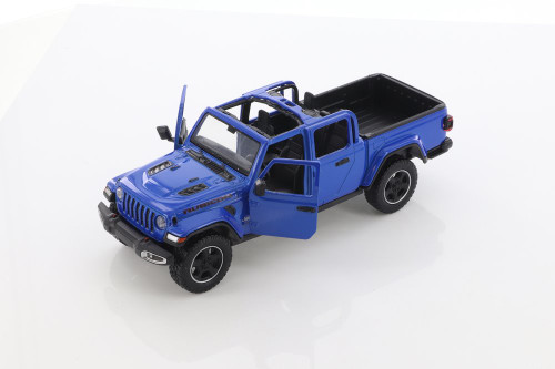 2021 Jeep Gladiator Rubicon (Open Top), Blue - Motor Max 79368/2D - 1/27 scale Diecast Model Toy Car