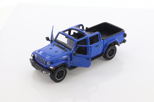 2021 Jeep Gladiator Overland (Open Top), Blue - Motor Max 79365/2D - 1/27 scale Diecast Model Toy Car