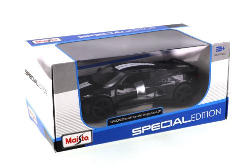 2020 Chevy Corvette Stingray Z51 Coupe, Black - Maisto 31527BK - 1/24 scale Diecast Model Toy Car