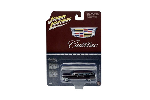 1959 Cadillac Hearse, Brown - Johnny Lightning JLSP113/24 - 1/64 scale Diecast Model Toy Car