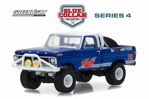 1972 Ford F-100, Pure Oil Co. Firebird Racing Gasoline - Greenlight 35100D/48 - 1/64 Scale Diecast Model Toy Car