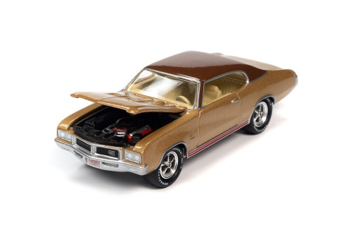 1970 Buick GS, Desert Gold Poly - Johnny Lightning JLMC025/48A - 1/64 scale Diecast Model Toy Car