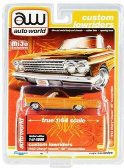 1962 Chevy Impala SS, Yellow - Auto World CP7739 - 1/64 scale Diecast Model Toy Car