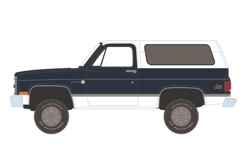 1987 GMC Jimmy Sierra Classic, Dark Blue - Greenlight 35190C/48 - 1/64 scale Diecast Model Toy Car