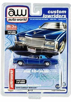 1975 Cadillac Eldorado, Blue - Auto World CP7720 - 1/64 scale Diecast Model Toy Car