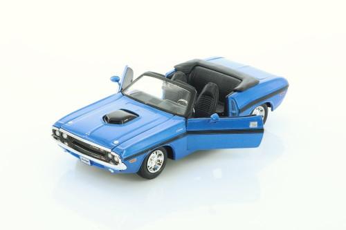 1970 Dodge Challenger R/T Convertible, Blue - Showcasts 34263/4D - 1/24 scale Diecast Model Toy Car