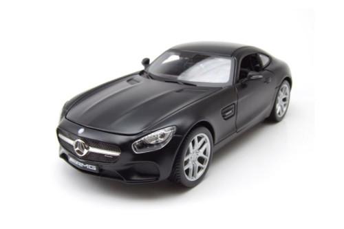 Mercedes-Benz AMG GT, Matte Black - Maisto 31398BK - 1/18 scale Diecast Model Toy Car