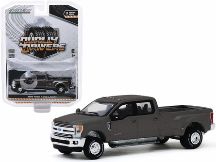 2019 Ford F-350 Dually, Stone Gray - Greenlight 46030F/48 - 1/64 scale Diecast Model Toy Car