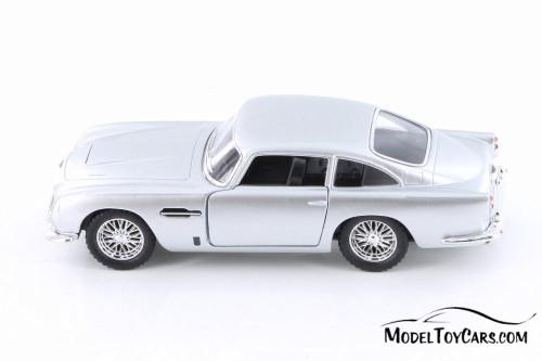 1963 Aston Martin Vulcan Hard Top, Silver - Kinsmart 5406D - 1/38 Scale Diecast Model Toy Car