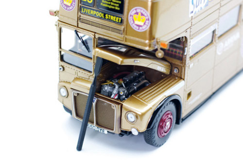 Routemaster RM London Double Decker Bus, Gold - Sun Star 2942 - 1/24 scale Diecast Model Toy Car
