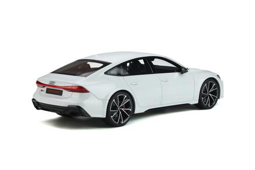 2020 Audi RS 7 Sportback, Glacier White Metallic - GT Spirit GT302 - 1/18 scale Resin Model Toy Car