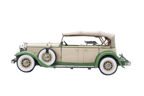 1932 Ford Lincoln KB Top Up, Tan Light Green - Sun Star 6164 - 1/18 scale Diecast Model Toy Car