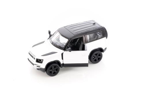 Land Rover Defender 90, White - Kinsmart 5428D - 1/36 scale Diecast Model Toy Car